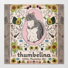 Little Thumbelina Girl: Thumb's Favorite Things in Color Canvas Print