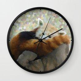 Tired Red Panda Wall Clock