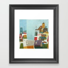 when the sky gets bluer Framed Art Print