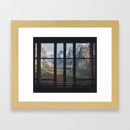 Yosemite Window Framed Art Print