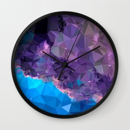 Geometric Galaxy Low Poly 1 Wall Clock