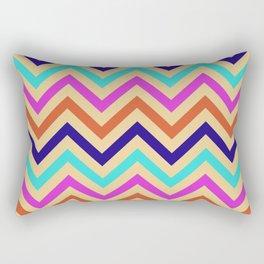 Multicolor Mid-Century Chevron Print Rectangular Pillow