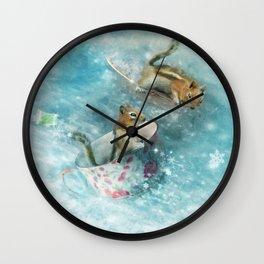 Teacup Racers Wall Clock