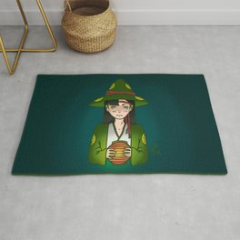 Candlelight Witch Rug