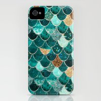iPhone 4 Case featuring REALLY MERMAID by Monika Strigel