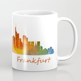 Frankfurt am Main, City Skyline, Citiscae art watercolor V1 Coffee Mug