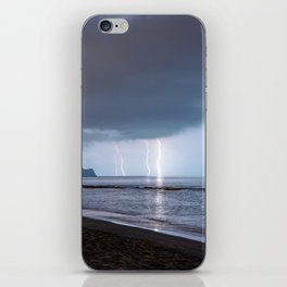 Lightning in an apprently quiet atmosphere iPhone Skin