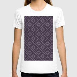Lilac And Purple Circles Double Helix Mandala Pattern T-shirt