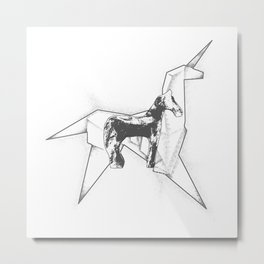 Horse And Unicorn Metal Print