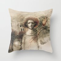 storm Throw Pillows featuring Storm.  by Iris V.