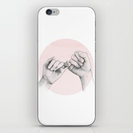 pinky swear // hand study iPhone Skin