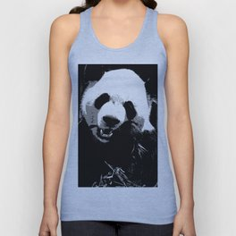 Cute Giant Panda Bear with tasty Bamboo Leaves Unisex Tank Top