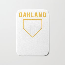 Oakland Baseball is Home Vintage OAK Skyline T-Shirt Bath Mat