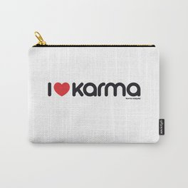 I Love Karma Carry-All Pouch