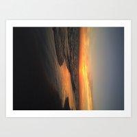 Sunset on edge Art Print