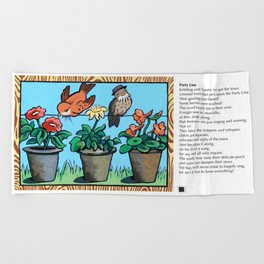 Party Line Beach Towel