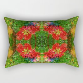 Floral Frenzy Rectangular Pillow