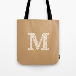 Floral Letter M Tote Bag