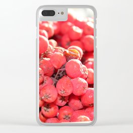 red bunch Clear iPhone Case