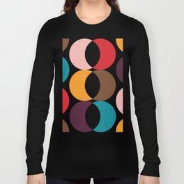 Mid Century Modern Circles Long Sleeve T-shirt