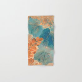 Blue and Orange Autumn Leaves Hand & Bath Towel