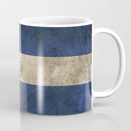 Old and Worn Distressed Vintage Flag of El Salvador Coffee Mug