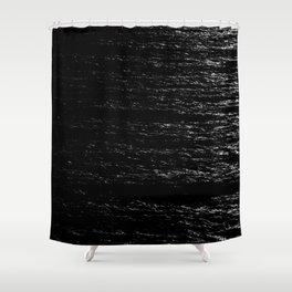 Soundwaves B&W Shower Curtain