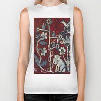 forrest Biker Tanks featuring Red Forrest by Dawna Kinne Magliacano