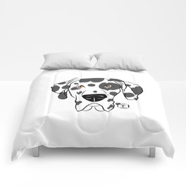 Harlequin Great Dane Face Comforters