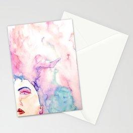 Burning Girl Stationery Cards