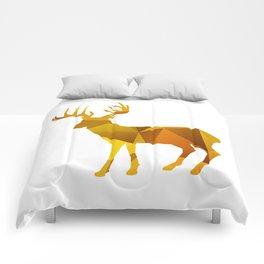 Deer - Gold Geomatric Comforters