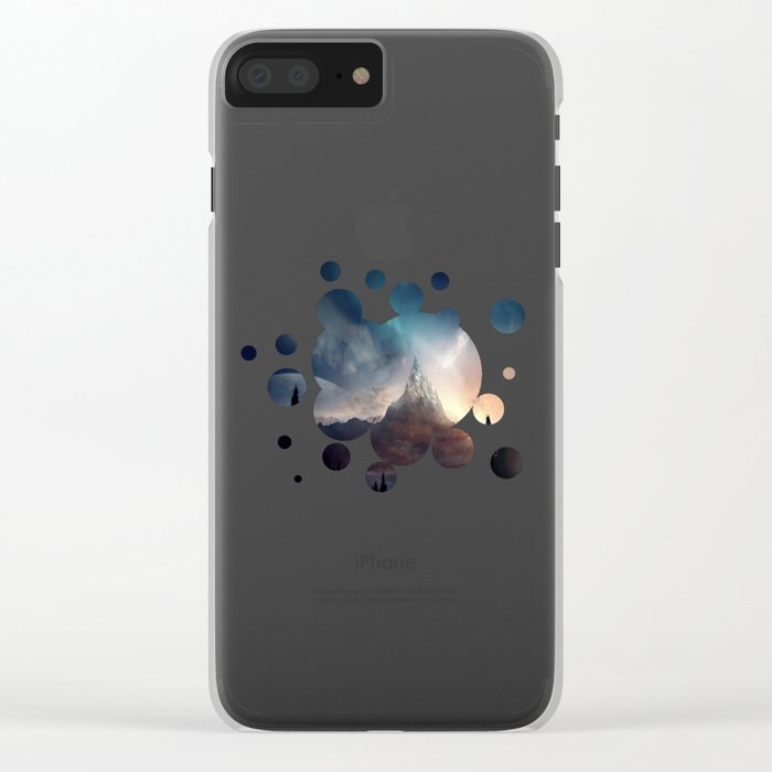 fantasy mountain Clear iPhone Case