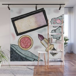 Pretty Makeup Essentials Wall Mural