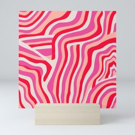 pink zebra stripes Mini Art Print