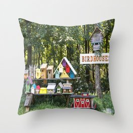 Birdhouses for Sale Throw Pillow