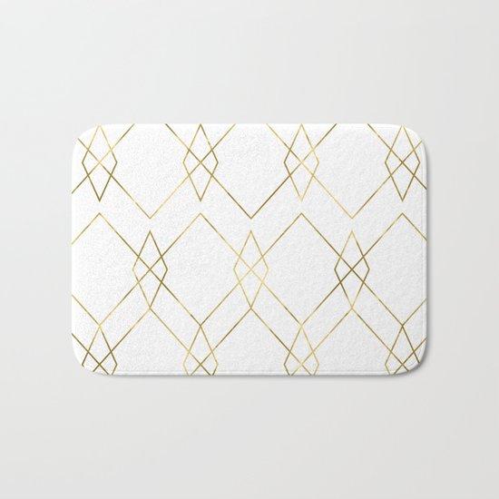 Gold Geometric Bath Mat
