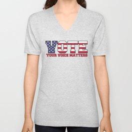 Vote - Your Voice Matters Unisex V-Neck