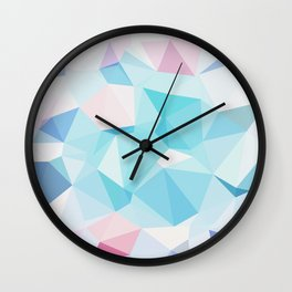 Geo Crystals - Pastel Wall Clock