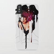 Ringu Woman Illustration in Mixed Digital Media iPhone X Slim Case