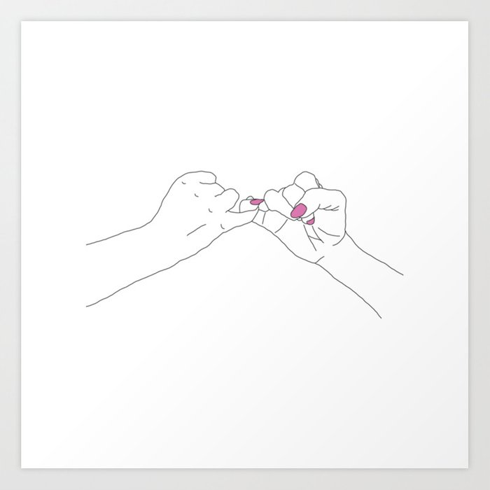 Pinky Promise Art Print by aubdesigns | Society6