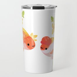 Ranchu and Forsythias Travel Mug