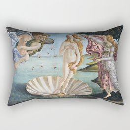 Botticelli's The Birth of Venus (High Resolution) Rectangular Pillow