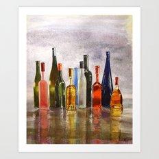 Bottles, oh Bottles! Art Print