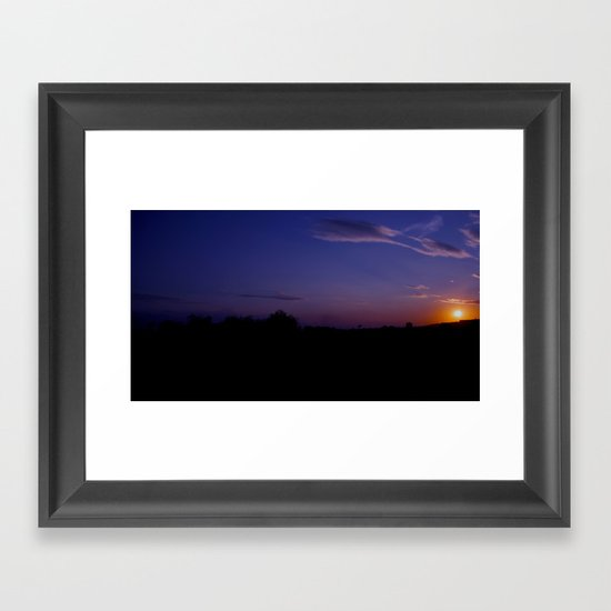 Amazing sunset Framed Art Print
