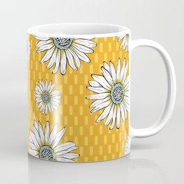 Daisies on Yellow Coffee Mug