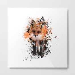 Silly Fox Metal Print