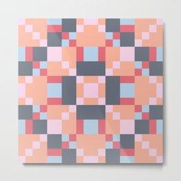 Native Patchwork Pixel Metal Print