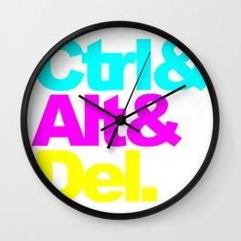 Control Alt Del Wall Clock