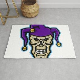 Court Jester Skull Mascot Rug
