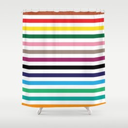 London Underground Tube Lines Shower Curtain